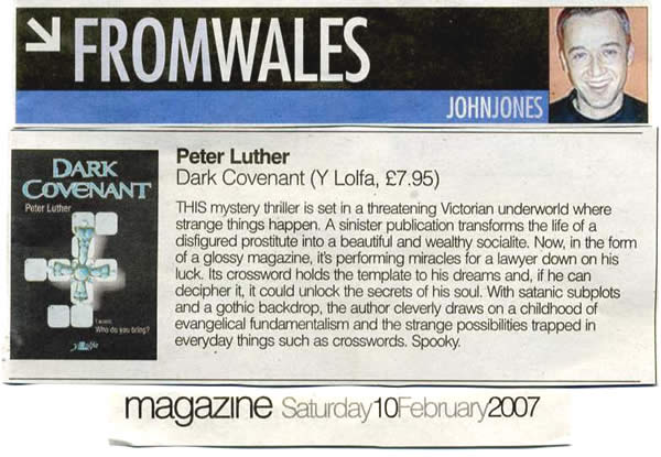 "Review from John Jones of ""Western Mail"" Saturday 10th February 2007"