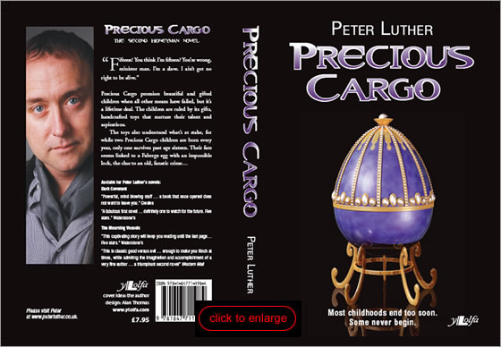 click to enlarge - cover of Precious Cargo by Peter Luther